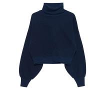 Cropped Oversize Sweatshirt mit Rollkragen