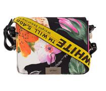 Satin-Tasche mit Blumen-Muster