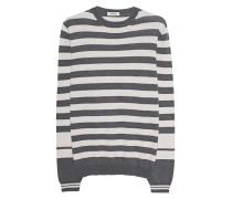 Gestreifter Feinstrick-Pullover