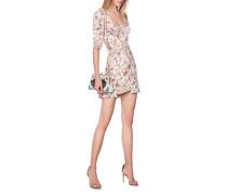 Geblümtes Kleid mit Schnürung