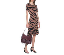 Strickkleid im Tiger-Design