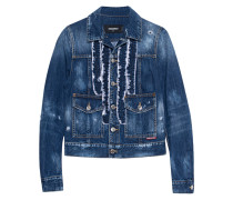 Jeansjacke mit Volants