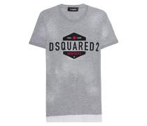 Destroyed T-Shirt mit Print