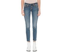 Skinny-Jeans mit dekorativen Nähten