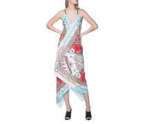 Seiden-Kleid mit all-over Print