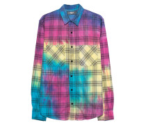 Mehrfarbige Oversize Bluse im Batik-Design