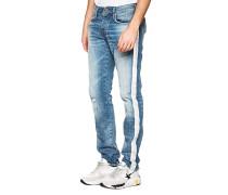 Slim-Fit Jeans mit Streifen