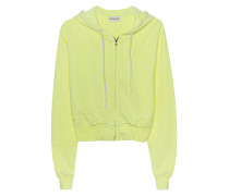 Kurzer Zipper-Hoodie im Destroyed-Look