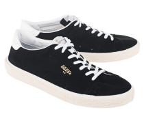 Flache Veloursleder-Sneaker
