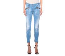 Skinny-Jeans mit Zipper