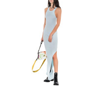 Maxi-Kleid Mit Ripp-Muster