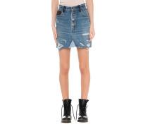 Jeans-Leder-Rock