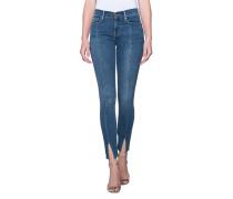 Cleane Skinny-Jeans mit geschlitztem Saum