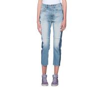 Straight-Leg Jeans im Patchwork-Look