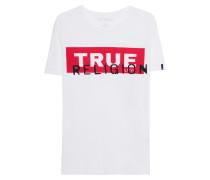 T-Shirt mit Label-Schriftzug