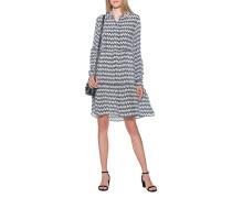 Gemustertes Kleid mit kurzer Knopfleiste