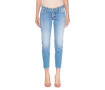 Straight-Fit Washed Out Jeans