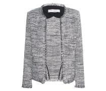 Tweed-Jacke mit Schulterpolstern