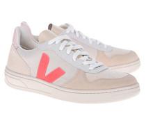 Veloursleder-Sneaker mit Schnürung