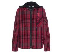 Wattiertes Flannel-Hemd mit Zipper