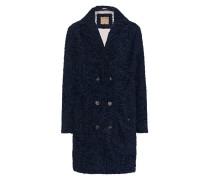 Fake-Fur-Mantel  // Curly Coat Night Blue