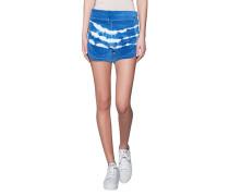 Samt-Shorts im Batik-Look