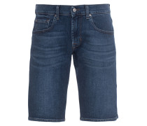 Washed-Out Jeans Shorts