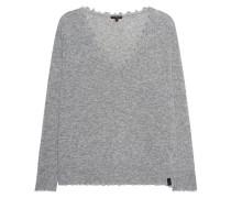 Feinstrick-Pullover mit offenen Säumen