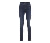 Skinny-Jeans mit Zipper-Detail