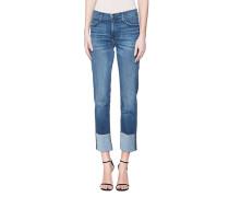 Jeans mit umgeschlagenem Saum