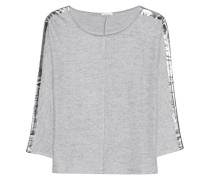Feinstrick-Pullover mit Metallic-Details
