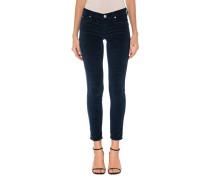 Mid Waist Samt-Jeans