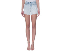 High-Waisted Jeans-Shorts