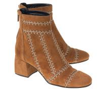 Bestickte Veloursleder-Boots