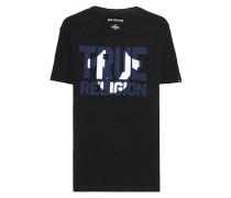 T-Shirt mit Label-Print