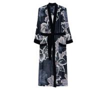 Seiden-Kimono mit floralem Muster
