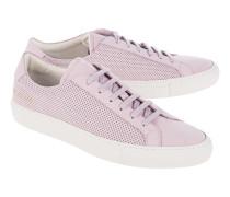 Flache Nubukleder-Sneakers