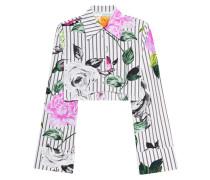 Kurze florale Bluse