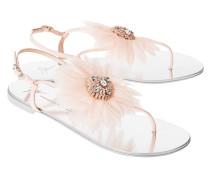 Sandale mit Blumen-Detail