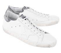 Flache Glattleder-Sneaker