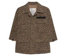 Jacke mit Leopard Muster