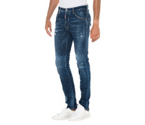 Destroyed Slim-Fit Jeans
