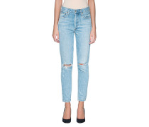 High-Rise-Straight Jeans