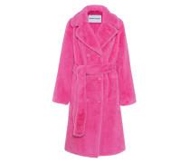 Fake-Fur Mantel mit Gürtel
