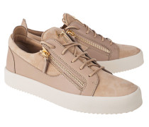 Flache Material-Mix-Sneakers
