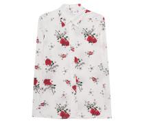 Seiden-Mix Bluse mit Rosen-Print