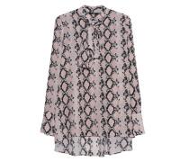 Seiden-Schluppen-Bluse mit Python-Muster
