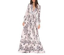 Paisley Seiden-Kleid
