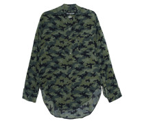 Long-Fit Bluse im Camouflage-Design