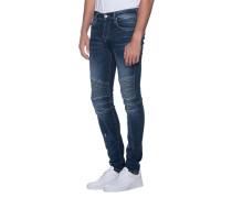 Slim-Fit Jeans im Biker-Stil